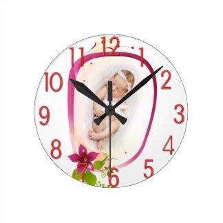 Little Angel Sleeping 041 Round Clock