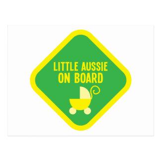 Little Aussie on Board on a sign Postcard