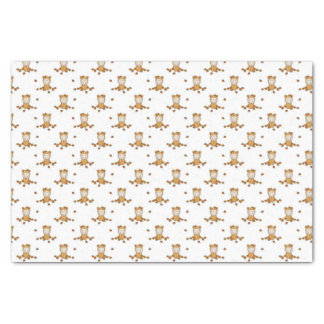 Little Autumn Baby in Falling Leaves Pattern Tissue Paper