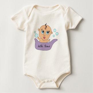 Little Baby Boy Bath Time Baby Bodysuit