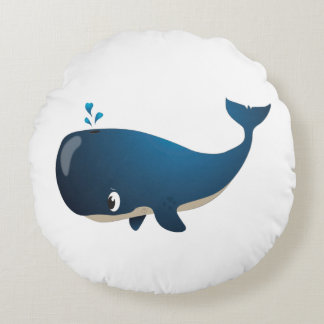 'Little Baby Love Seal' Whale Cushion