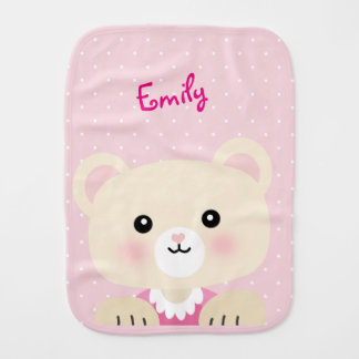 Little Bear Baby Girl's Burp Cloth