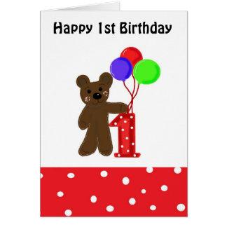 Little Bear First Birthday Card