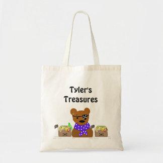 Little Bear Pirate Treasures Budget Tote Bag