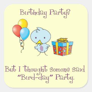 Little Birdie Birthday Stickers