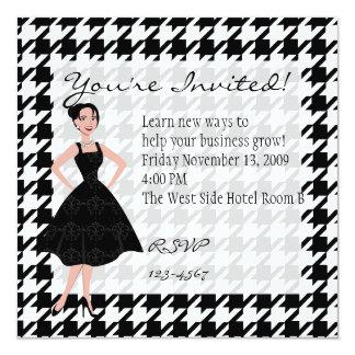 little black dress 13 cm x 13 cm square invitation card
