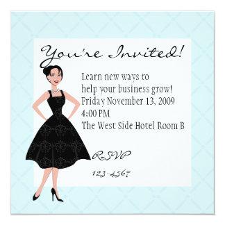 little black dress 5.25x5.25 square paper invitation card