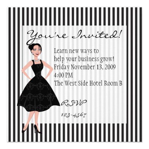 little black dress announcements