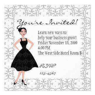 little black dress personalized invite