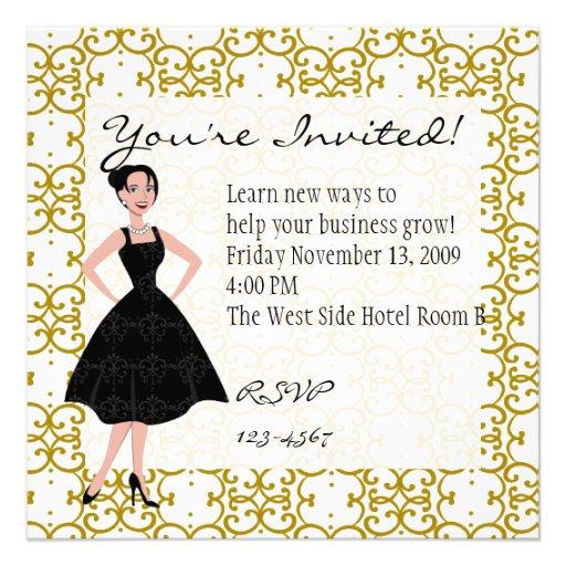 little black dress custom invite