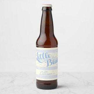 Little Boy Blue Baby Shower Wine Label