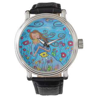 Little Boy Blue Mother and Son Art Watch