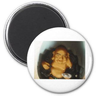 Little Buddha 6 Cm Round Magnet