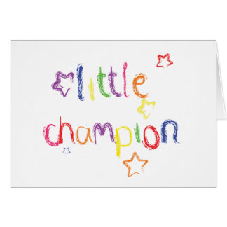 Little Champion Congratulations card