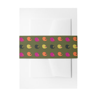 Little chicks belly band invitation belly band