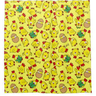 Little Chicky Chicky Shower Curtain