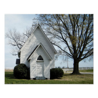 Little Country Church Poster