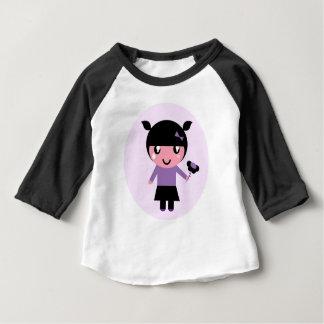 Little cute EMO GIRL : black, purple Baby T-Shirt