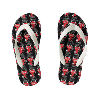 Little Devil - Custom Flip Flops, Kids Thongs