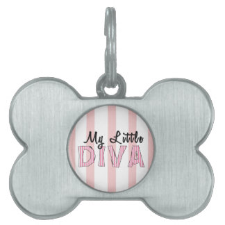 Little Diva Dog Bone Pet Tag