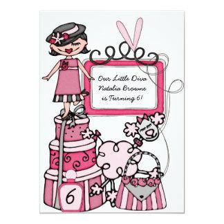 Little Diva Girls Makeover Spa Day Birthday Invite
