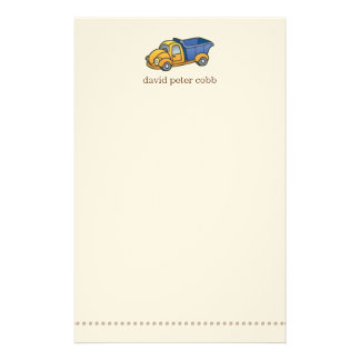 Little Dump Truck Stationery