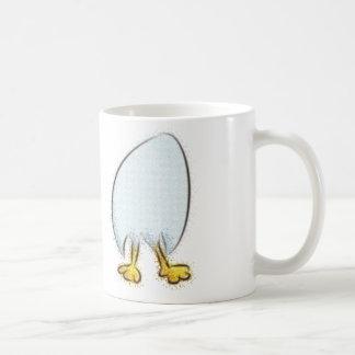 little egg with legs basic white mug