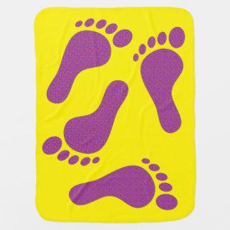 Little Flower Footprints Baby Blanket