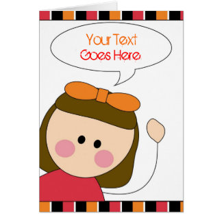 little girl greeting card