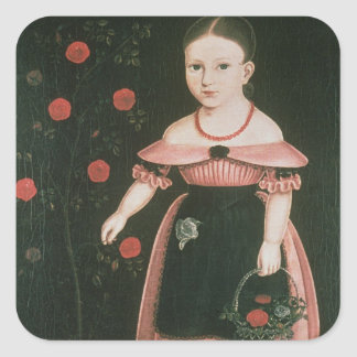 Little Girl in Lavender, c.1840 Square Sticker