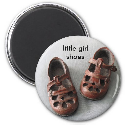 Little Girl Shoes Refrigerator Magnets