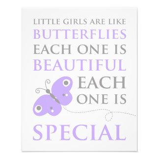 Little Girls Are Like Butterflies Photo Print