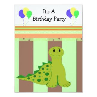 Little Green Dinosaur Party Invitaiton Invites