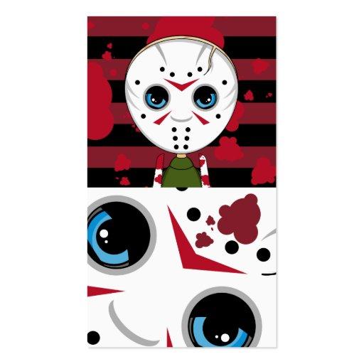 LIttle Halloween Serial Killer Bookmark Business Card Template