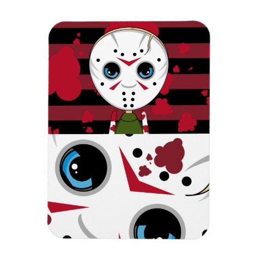 LIttle Halloween Serial Killer Magnet Vinyl Magnets