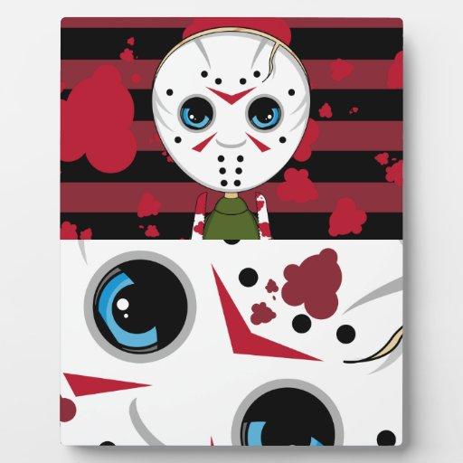 LIttle Halloween Serial Killer Plaque