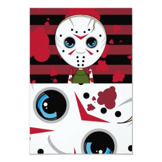 LIttle Halloween Serial Killer RSVP Card Personalized Invites