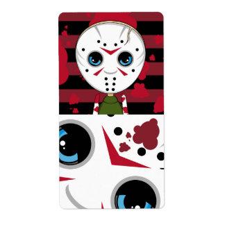 LIttle Halloween Serial Killer Sticker Label Shipping Label