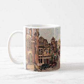 Little Italy, Cleveland Ohio Painting on a mug