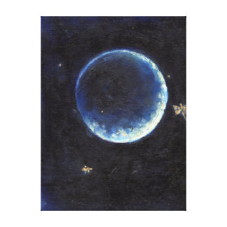 Little Lune 2014 Stretched Canvas Print