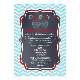 Little Man Bowtie Baby Shower Invitations