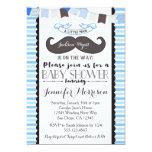 Little Man Moustache Baby Shower Invitation