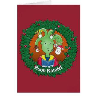 Little Medusa. Buon Natale Card