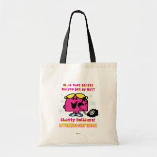 Little Miss Chatterbox Christmas Wish List Tote Bag