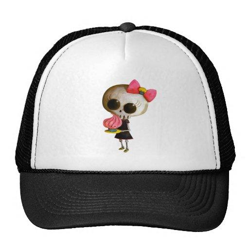 Little Miss Death with Cupcake Trucker Hat