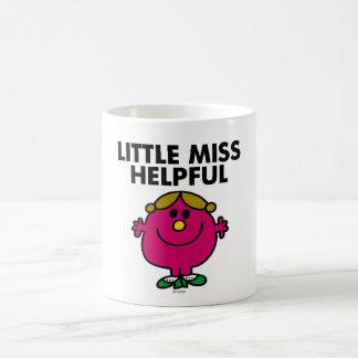 Little Miss Helpful   Black Lettering Basic White Mug