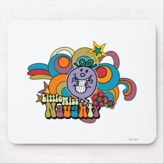 Little Miss Naughty Rainbow Mouse Pad