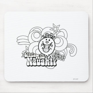 Little Miss Naughty With Bold Background Mouse Pad