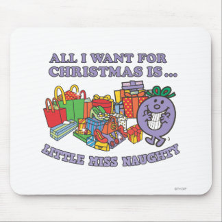 Little Miss Naughty's Christmas Joy Mouse Pad