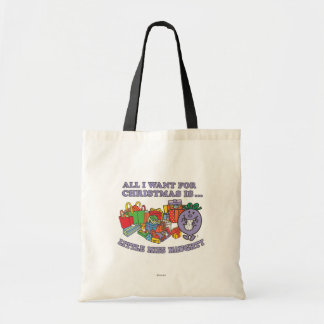 Little Miss Naughty's Christmas Joy Tote Bag